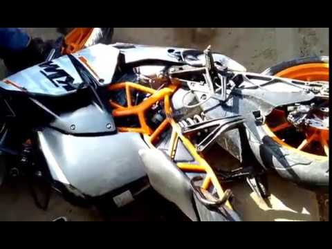 live footage of KTM RC accident in bhaktapur,Nepal