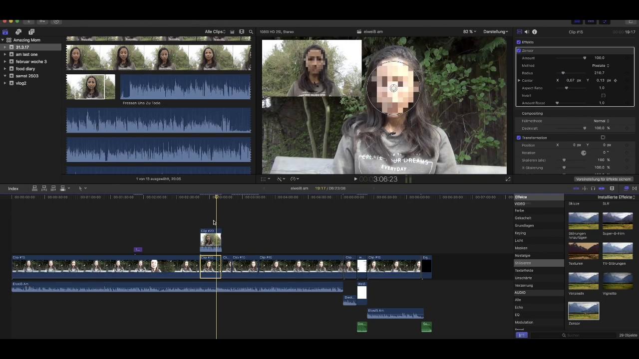 Video Gesicht Verpixeln