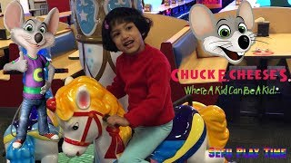 CHUCK E CHEESE Indoor GamePlay and Activities for Kids | Animatronics | Family Challenge |Eat  pizza