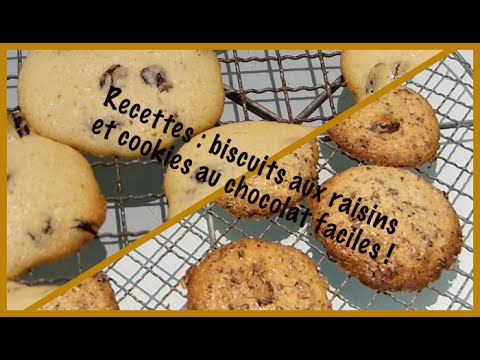 cuisine n 2 recette facile et rapide de cookies biscuits aux raisins secs youtube. Black Bedroom Furniture Sets. Home Design Ideas