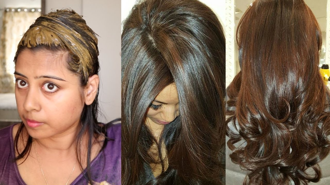 How To Colour Your Hair Chocolate Brown Naturally At Home  YouTube