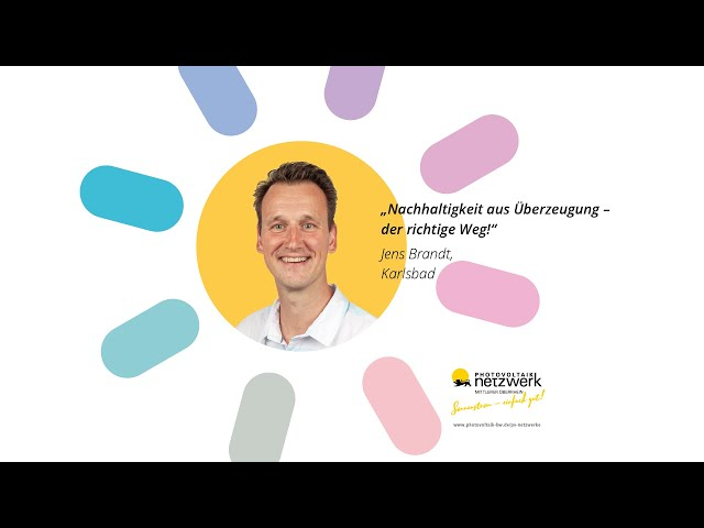 Photovoltaik Botschafter - Jens Brandt