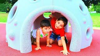 Kids Playground | Kids Are Playing on the Outdoor Playground | Funny Kids | საბა და ლუკა სკვერში