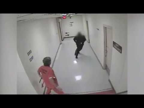 Chilling prison assault caught on camera