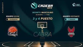 CADEBAINFMAS 2019 - 3 y 4 PUESTO - CD ROQUETAS BC vs GRUPO CUERVA FCBG thumbnail
