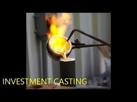 Investment Casting or lost wax casting demonstrated