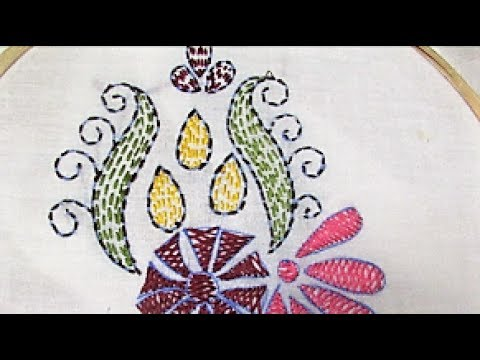 How To Do Kantha Running Stitch Youtube
