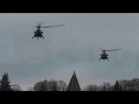 Смотреть Вертолёты ФСО в Кремле онлайн