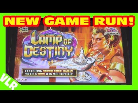 FUN RUN ON NEW GAME - LAMP OF DESTINY - Slot Machine Bonus - 동영상