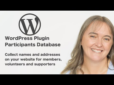 Participants Database a WordPress plugin