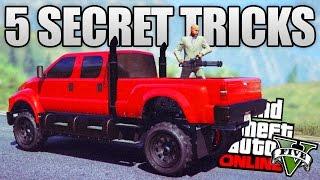 GTA 5 ONLINE - 5 SECRET TRICKS YOU DON'T KNOW IN GTA 5 ONLINE! (GTA 5 Secret Tricks & Features)