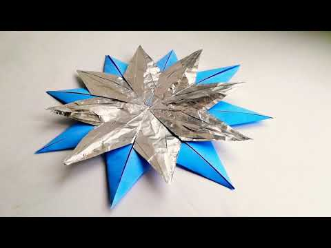 How to make paper stars. DIY origami paper star easy.