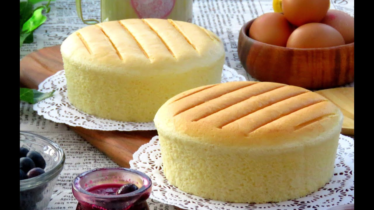 Japanese Sponge Cake Recipe Youtube: How To Make Super Soft And Fluffy Cotton Cheesecake