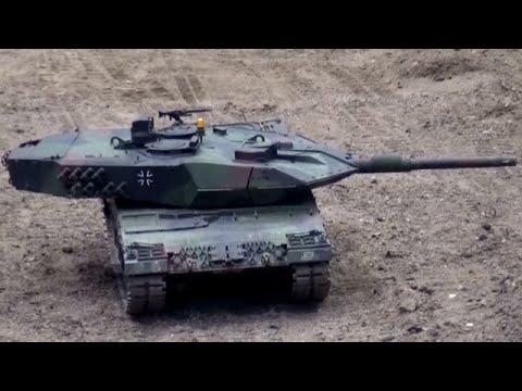 RC Tanks Panzer 2/2 Bundeswehr Leopard 2 Biber Büffel Dingo ♦Modellbaumesse Leipzig