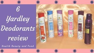 6 Yardley London Deodorant Review - Health Beauty and Food