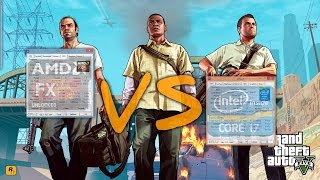 Intel i7 4790K vs AMD FX 8320 - GTA V
