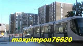 test essaie Tramway ( LIA Ligne d'Agglo ) LE HAVRE 76