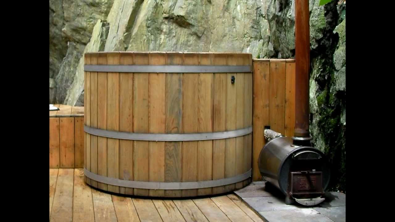 wood hot tubs wood fired hot tubs youtube. Black Bedroom Furniture Sets. Home Design Ideas