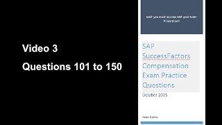 SAP SucccessFactors Compensation Certification Exam Practice Questions 3