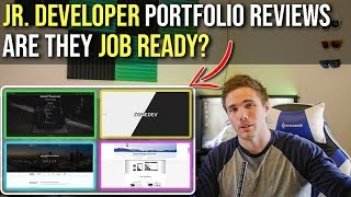 Jr. Developer Portfolios REAL EXAMPLES - Are They JOB READY? #grindreel