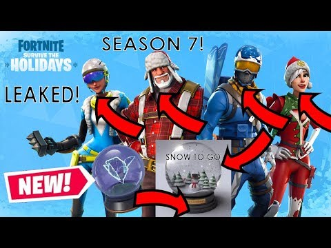 Fortnite New Season 7 Christmas Skins Leaked How To Get Battle