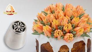 RUSSISCHE SPRITZTÜLLEN   TIPPS ZUM EINFÄRBEN DER CREME   Osterkuchen dekorieren   VanilleTanz