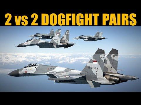 2 Vs 2 Pair Dogfights   DCS WORLD
