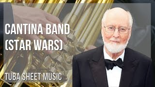 EASY Tuba Sheet Music: How to play Cantina Band (Star Wars) by John Williams