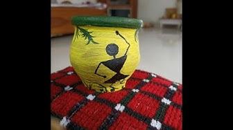Pot Painting Ideas for Beginners |Pot Decoration Ideas | Warli Pot Decoration| | Matka Decoration