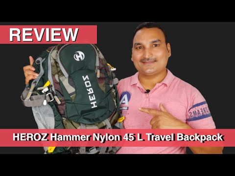 heroz hammer unisex nylon 45 litres travel laptop backpack | unboxing & review |  by Exploring India