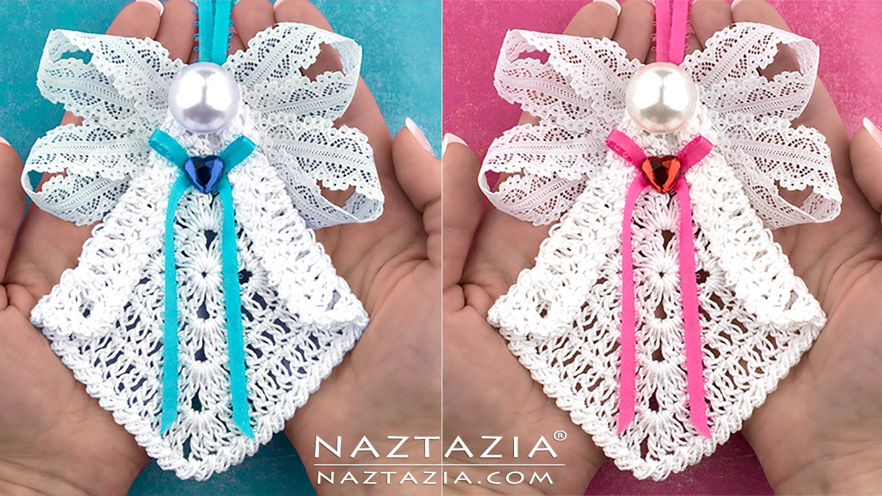 Diy tutorial learn how to crochet my sweet angel granny square diy tutorial learn how to crochet my sweet angel granny square ornament youtube bankloansurffo Image collections