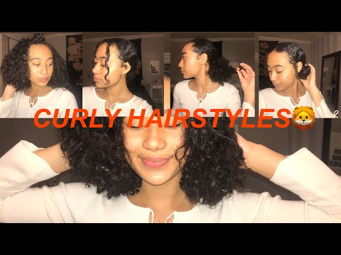 5 baddie hairstyles for short curly hair ♕ That's so Rachel