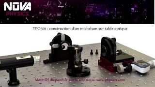 Construction d'un interféromètre de Michelson