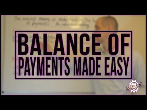 The easiest way to understand the balance of payments