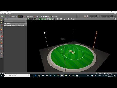Dialux Evo Tutorial Stadium Lighting (Sport Lighting) Gemini