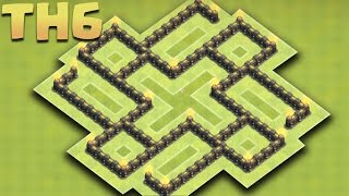 Clash of Clans - New Town hall 6 (TH6) Farming Base 2016 - Protect your Loot