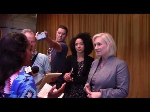 Media interview Senator Kirsten Gillibrand #KingstonNy