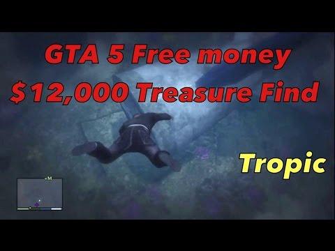 gta treasure sunken hidden money location plane dollars wreck