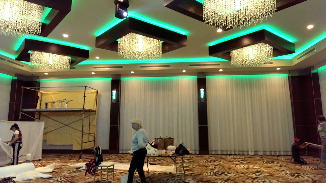 Lighting Installation By Allen Productions Www Dj Metropol Banquet Hall You