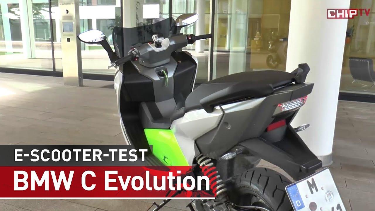 bmw c evolution elektro scooter test deutsch chip youtube. Black Bedroom Furniture Sets. Home Design Ideas