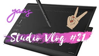 ★STUDIO VLOG #21 | Colis x3 & Digital painting 𝕤𝕠 𝕟𝕚𝕔𝕖 ✨