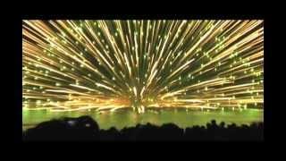 Huge Fireworks Explosion: 900 Millimeter Water Shell