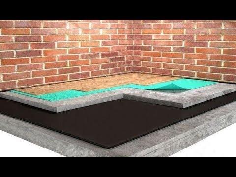 Как правильно залить пол в частном доме на землю видео