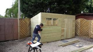 Mercia Pressure Treated Pent Installation