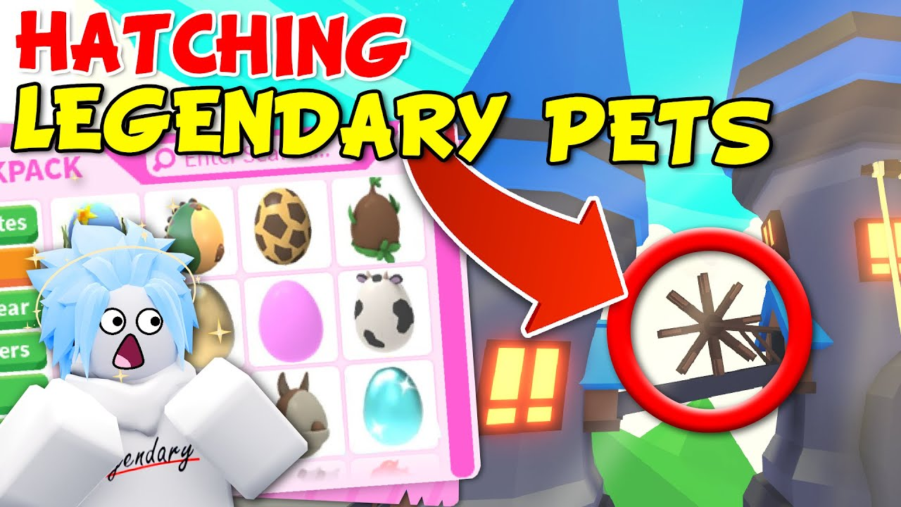 Hatching Legendary Pets in Roblox Adopt Me! Finding LUCK in the NEW Sky Castle 🏰