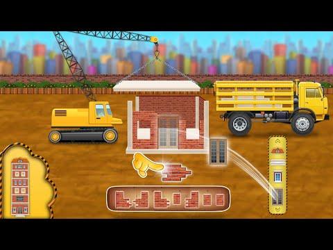 Construction Vehicles - Build House & Car Wash