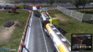 Euro Truck Simulator 2 Multiplayer - Rotterdam Traffic Jam!