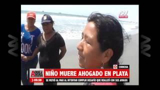 Baixar Niño murió ahogado en playa de Chincha