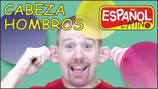Cabeza Hombros Rodillas y Dedos | Canciones para niños con Steve and Maggie Español Latino