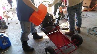 $25 craigslist go kart find part 2, a fun little machine  5hp tecumseh